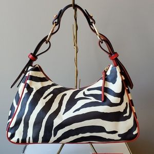 Dooney & Bourke Bags - Dooney & Bourke Large Zebra Hobo